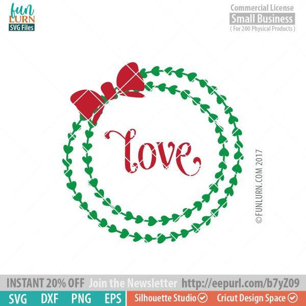 Love wreath SVG