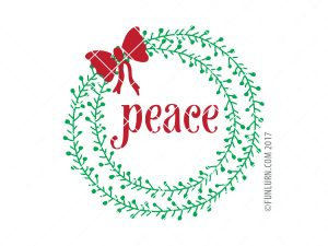 Peace Wreath SVG