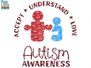 Autism Awareness Accept, Understand, Love SVG