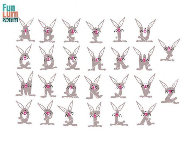 Bunny Alphabet SVG