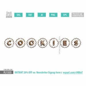 Cookie Booth Banner Elements svg