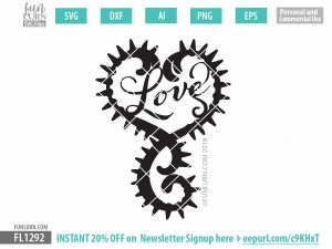 Gothic Spiky heart SVG