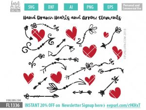 Arrows and Hearts SVG