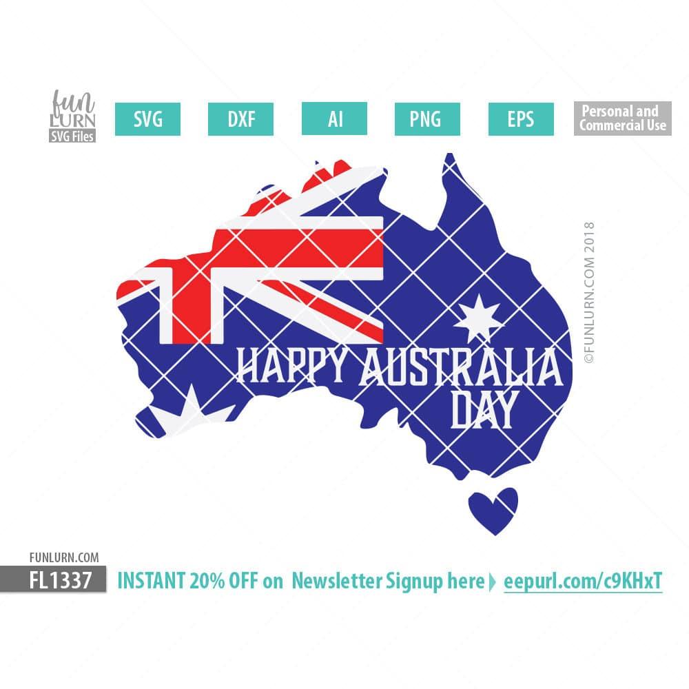 Using Cricut Design Space In Australia: Happy Australia Day svg - FunLurnrh:funlurnsvg.com,Design