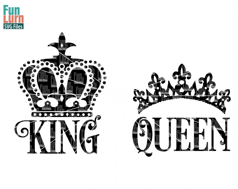 King Queen Svg Funlurn Svg