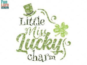 Little miss lucky charm svg
