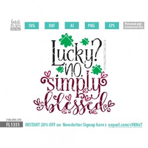 Lucky no simply blessed SVG