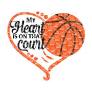 My heart is on that Basketball Court SVG
