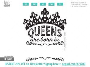 Queens are born in Blank SVG file