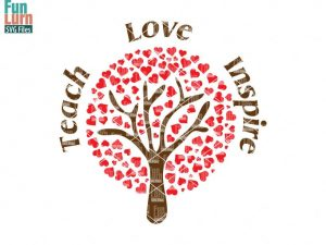 Teach, Love Inspire SVG