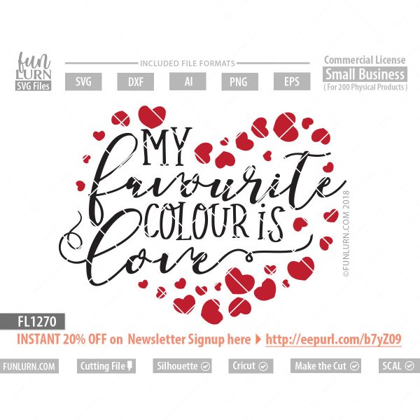 My favourite colour is Love SVG