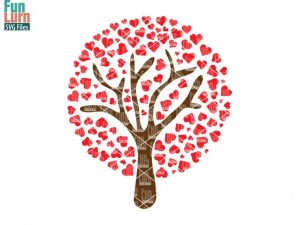Wedding Heart Tree SVG