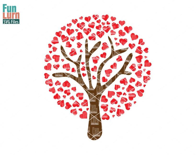 Wedding Tree Svg Wedding Svg Marriage Gift Present Circle