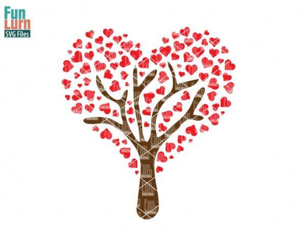 Heart Tree SVG