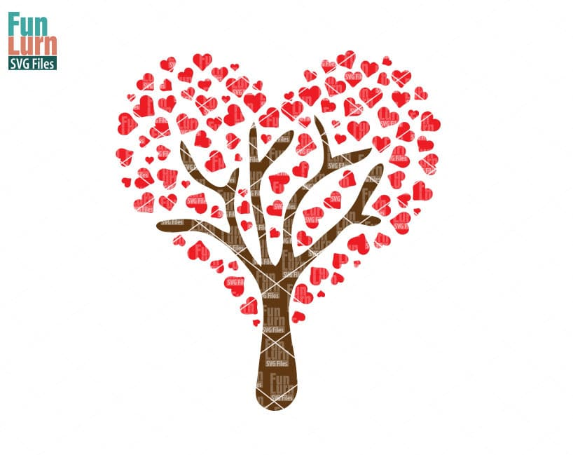 Heart Tree Svg Funlurn Svg