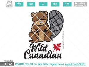 Wild Canadian Cute Beaver SVG
