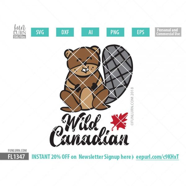 Wild Canadian Cute Beaver SVG