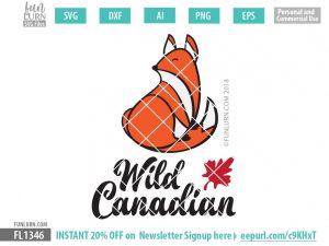 Wild Canadian Cute Fox SVG