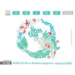 Mermaid Wreath SVG