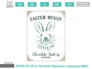 Easter Bunny Chocolate Factory SVG