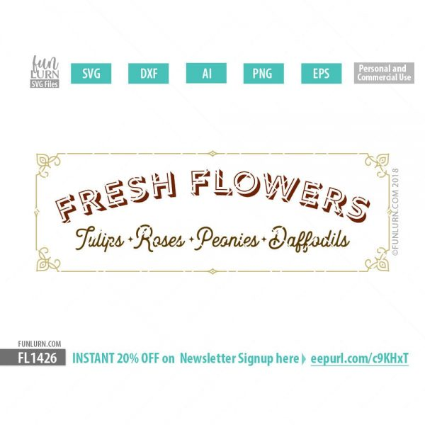 Fresh Flowers SVG