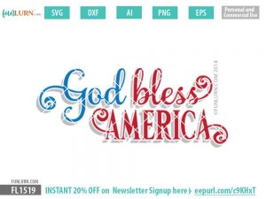 God Bless America SVG