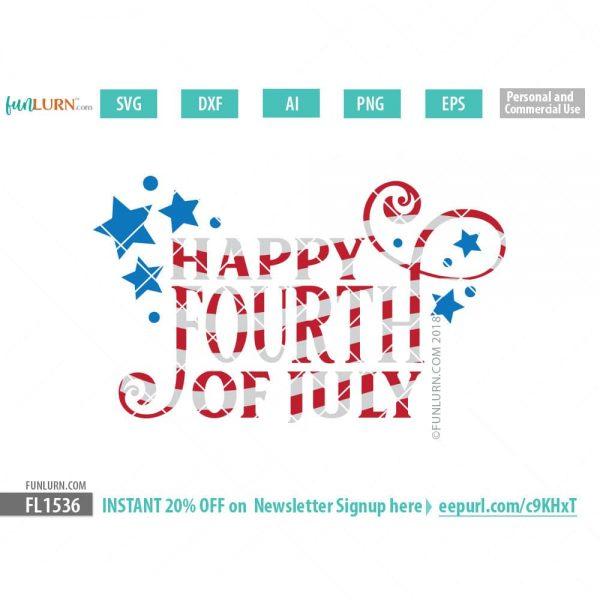 Happy Fourth of July SVG