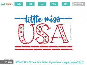 Little Miss USA SVG