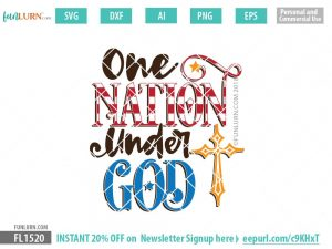 One Nation under God SVG