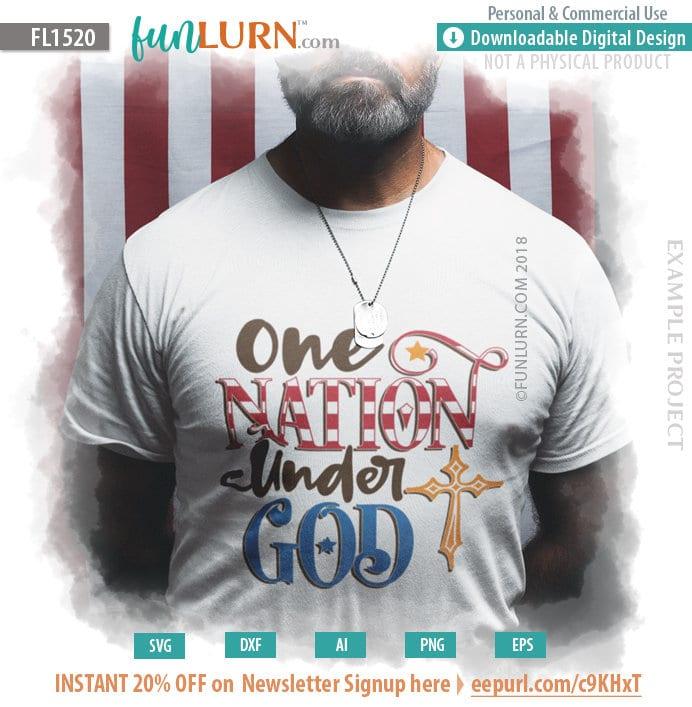 One Nation Under God Svg Funlurn