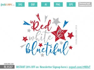 Red white and bluetiful SVG