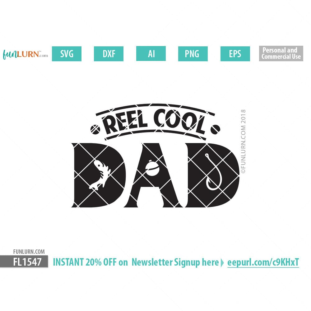 eeab2156 Reel Cool Dad svg - FunLurn