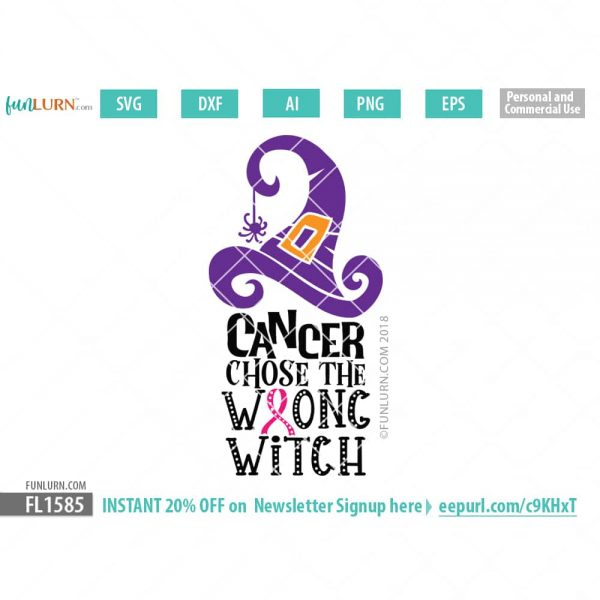 Cancer chose the wrong witch svg