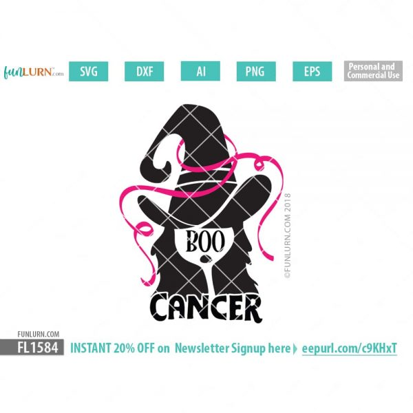 Boo Cancer SVG