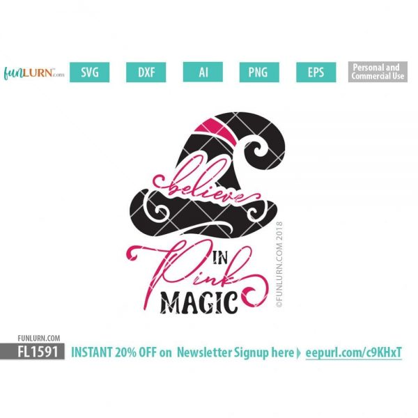 Believe in pink magic svg