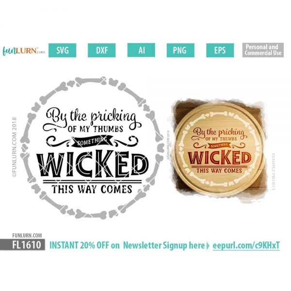 By the pricking of my thumbs something wicked this way comes SVG
