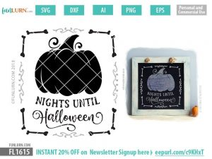 Nights until Halloween SVG