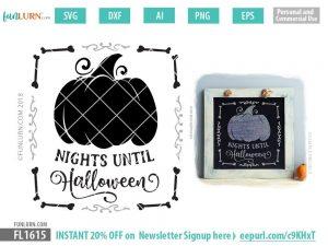 Nights until Halloween SVG