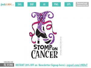 Stomp on Cancer svg