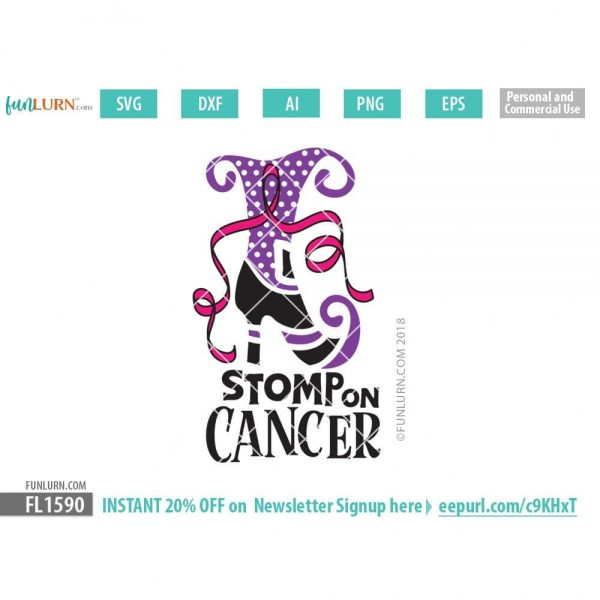 Stomp on Cancer svg