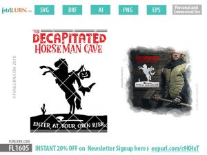 The decapitated horseman cave SVG