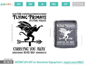 The Flying Primate delivery service SVG