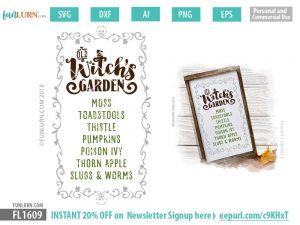 Witch's Garden SVG