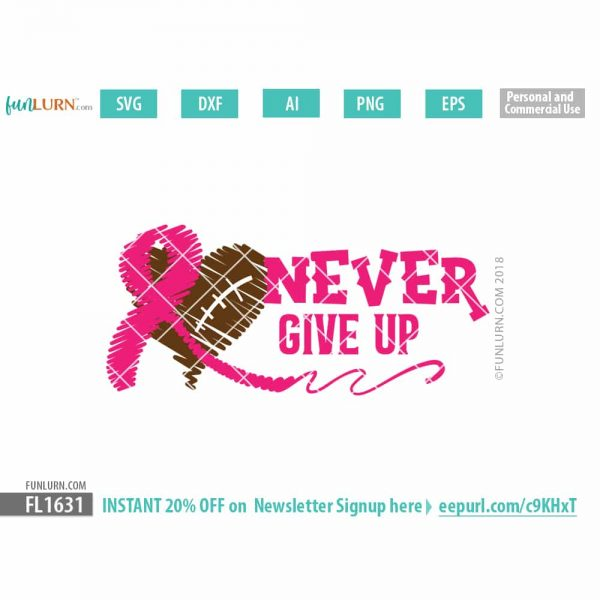 Never Give up svg