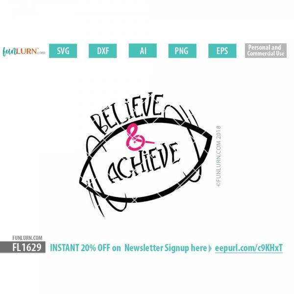 Believe and Achieve SVG