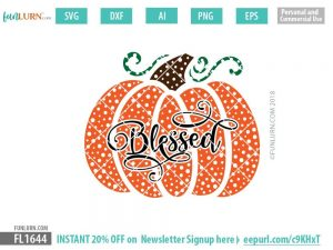 Blessed pumpkin dot patterned SVG