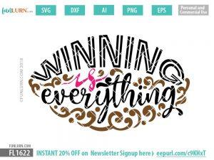 Winning is everything SVG