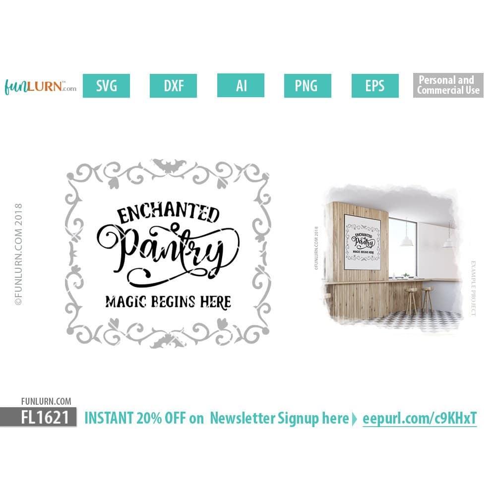 Enchanted Pantry SVG - FunLurn on farm house designs, country estate designs, country farm house, country shabby chic designs, country garage designs,