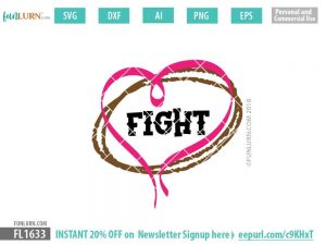 Fight Football Awareness Ribbon SVG