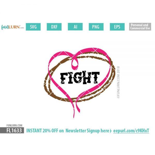Fight Football Awareness Ribbon SVG
